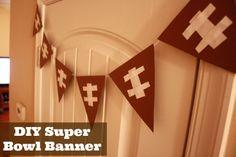 DIY Super Bowl Banner! Super Bowl Decorations!