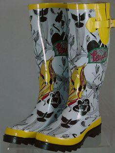 Cute rain boots.