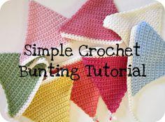 Simple Crochet Bunting Tutorial