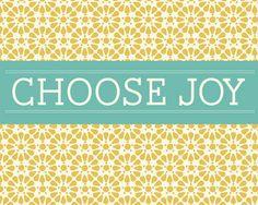 Choose Joy free printable