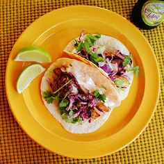 Fish Tacos & Red Cabbage Slaw