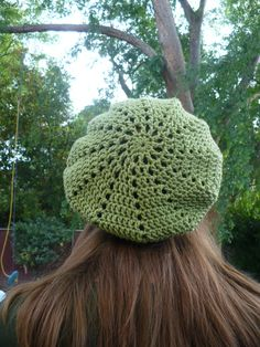 Green slouchy hat