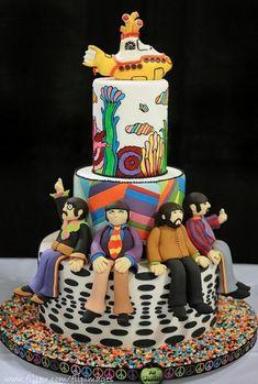 submarines, food, cake wreck, beatl cake, wedding cakes, yellow submarin, the beatles cake, birthday cakes, submarin cake
