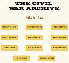 The Civil War Archive  #wikichicks #genealogy