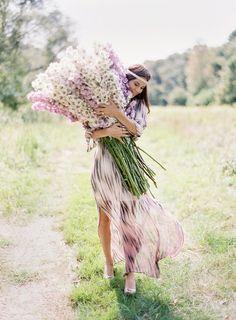 wow! the flowers, the hair, the dress... #pretty #boho #bohemian - ☮k☮