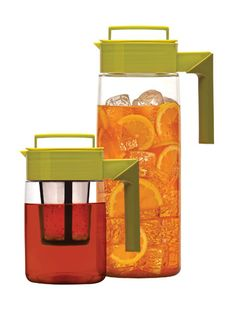 If you want homemade iced tea but are too impatient to wait for it to chill, Takeyas Flash Chill Iced Tea Beverage System ($21.99-$39.99) solves that in only 30 seconds. Just brew the tea, fill the pitcher with ice, shake, and serve! #summer #summerdrinks #icedtea