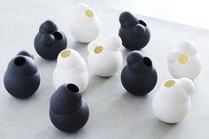 Vases shaped like soap bubbles.