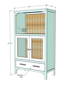 chick brooding cabinet, via Ana White -- convert an existing armoire?