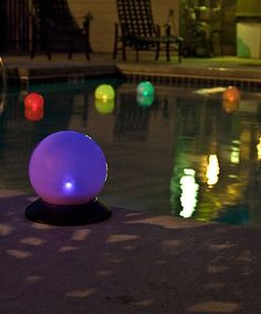 """Programmable Color-Changing 6"""" Solar Globe"""