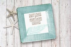 Beach Wedding / Invitation / Keepsake / For by GlassPaperScizzors, $89.00