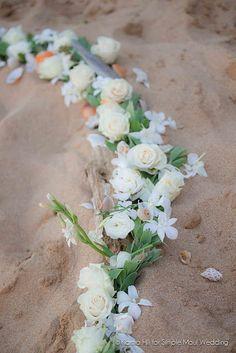 flower circle for Hawaiian wedding