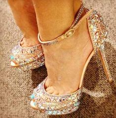 Beautiful sparkly heels