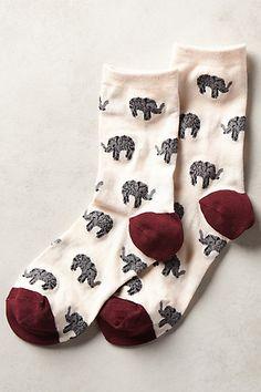 Elephant Socks so cute!