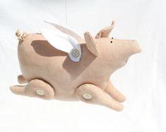 Flying Piggy stuffed toy