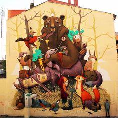 UP-BY The Artists @upbyartists shared on Twitter this ~ DULK #streetar #art #graffiti #illustrator #photo ><3<