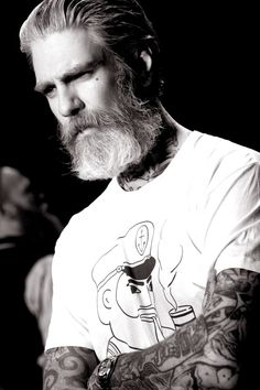 my two favorite things...a beard and tattoos <3