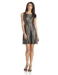 Tiana B Women's Printed Foil Sleeveless Dropped Waist Dress - Listing price: $89.99 Now: $39.99