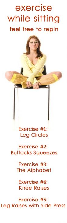 Do you feel you're too sedentary all day at work because the majority of your time is spent in a chair? Don't fret any longer, and tone your thighs and butt with these quick chair exercises throughout the day.