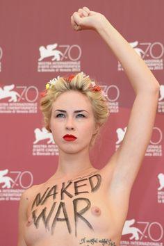 Le Femen alla Mostra del Cinema di Venezia 2013 - MarieClaire