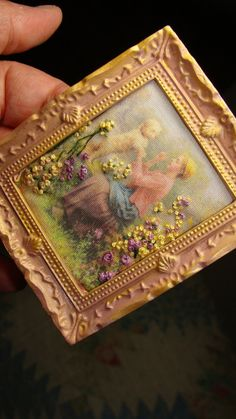 Embroidery vintage katie arthur miniature by DollhouseLittles,