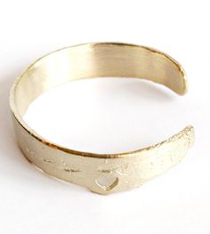 birch heart, birches, heart brass, bracelets, birch bracelet, brass bracelet