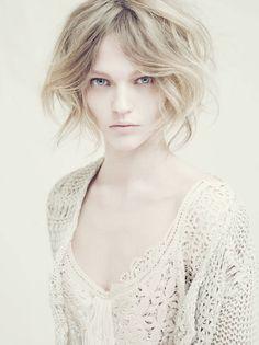 Alberta Ferretti. Love the hair cut.