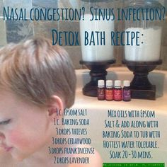 young living detox bath, young living sinus congestion, young living bath salts, young living epsom salt bath, bath recipes, detox baths, detox bath with essential oils, essenti oil, congestion with essential oils