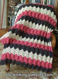 Lace Ripple Afghan crochet pattern.