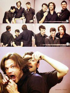 Misha, Jared, and Jensen.