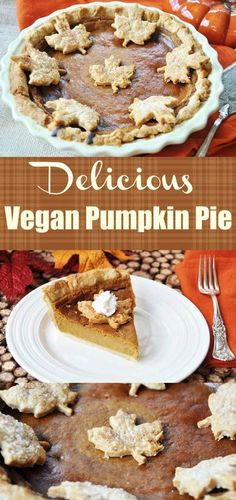 Vegan Pumpkin Pie (D