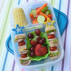 Sandwich kabobs   packed in @EasyLunchboxes containers