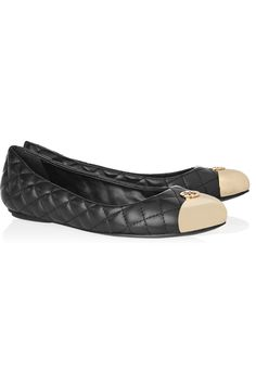 Tory Burch|Kaitlin quilted-leather and metal ballet flats