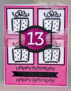 13th Bold Birthday by ShabbyJoDesigns - Cards and Paper Crafts at Splitcoaststampers