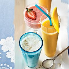 Peach-Mango Smoothie | MyRecipes.com #myplate #dairy #fruit
