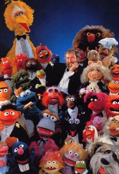 Jim Henson and his many friends.