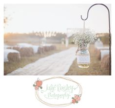 Rustic chic vintage wedding outdoor wedding field wedding hay bale wedding Julie Paisley Photography Jacksonville wedding photography burlap lace Diy wedding ideas baby's breath wedding mason jar wedding