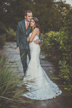 Autumn Wedding Glamour and Elegance - she wears Benjamin Adams.  http://www.michellelindsell.com/