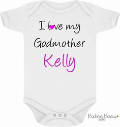 Will You Be My Godmother, Baby Girl Clothes, I Love My Godmother, Godmother Baby Clothes, Gift for God Daughter, God Mother Gift BabeeBees