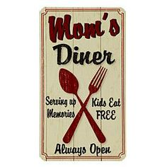 Country Kitchen Metal Sign - Diner