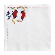 seas, napkins, aboard napkin, dress tabl, sea stylebeat, kim seybert, nautic necess, dinner napkin, inspir tabl
