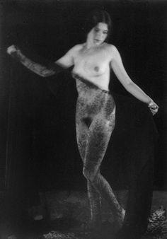 Alexandre Grinberg - Etude de Nu au voile, vers 1920