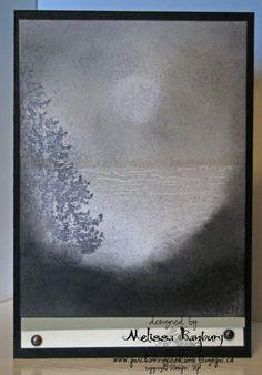 "Porch Swing Creations: Gray Dawn **** created by Melissa Banbury using SU set ""Christmas Lodge"""