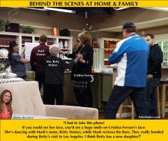 BEHIND THE SCENES! Cristina and Mark's mom, Mrs. Betty Steines dance in between takes!. So much fun in this house. Lot's of laughs and love. Enjoy! Shirley Bovshow  #homeandfamily