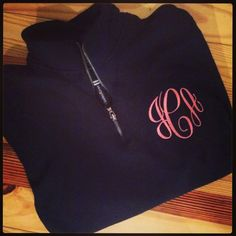 Monogrammed QuarterZip Sweatshirt by hadleyandfinn on Etsy $40