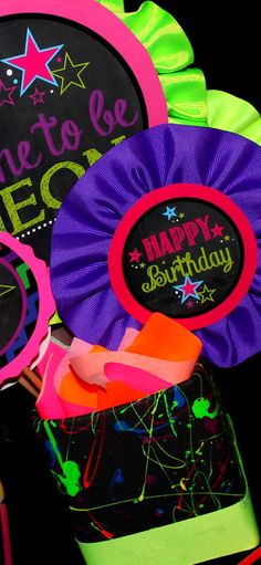 NEON Party  Bottle Labels Teen Party Printables  by KROWNKREATIONS, $4.50