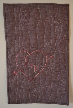Custom Tree Carving Wall Quilt