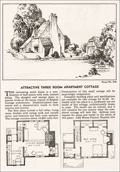 1935 Ladies Home Journal - No. 310 Storybook house #Englishrevival