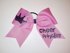Cheer Princess Cheer Bow by Justcheerbows on Etsy, $10.00