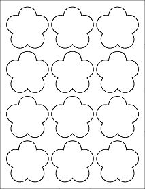 "Flower Labels - Flower Stickers - Great for adding an accent to your next labeling project.  Measures 2.4565"" x 2.3962"""