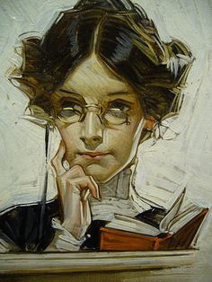 By J.C. Leyendecker, an artist with almost as many Saturday Evening Post covers as Rockwell.